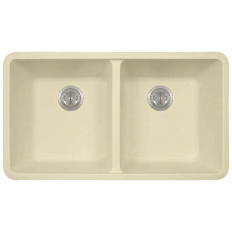 composite undermount kitchen sinks polaris sinks undermount composite 32 1 2 in bowl 5666
