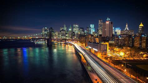 Download Manhattan Starry Night Hd Wallpaper For 4k 3840 X
