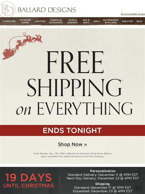 ballard designs free shipping ballard designs hurry daily deals sitewide free
