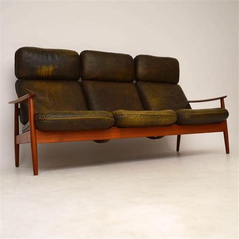 retro sectional leather retro teak leather sofa by arne vodder vintage 4829