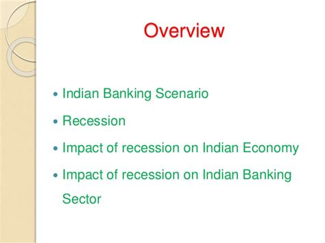 impact  recession  indian banking sector