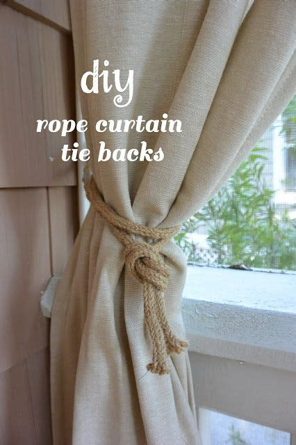 outdoor curtains  diy rope curtain tie backs life