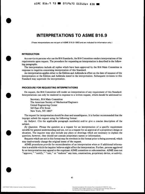 ASME B16.9 Interpretation | Pipe (Fluid Conveyance) | Plumbing