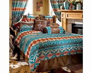 Turquoise, Chamarro, Bedding, Set