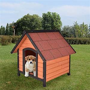 tangkula dog house pet outdoor bed wood shelter home With best deals on dog kennels