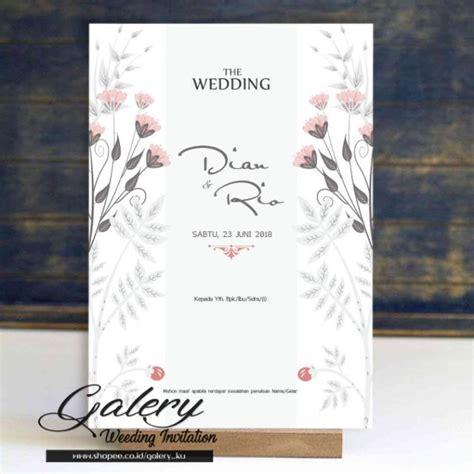 undangan pernikahan floral flower vintage rustic cantik