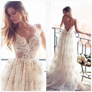 2017 full lace open back wedding dresses sexy spaghetti With summer lace wedding dress