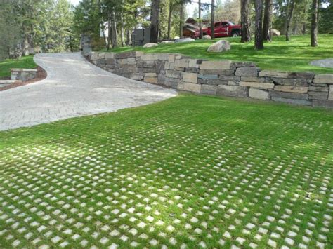 creating a patio with pavers driveway grass paver grid