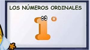 matecitos com: 1º de Primaria: Explicación Los números ordinales YouTube