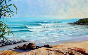 Tea Tree Bay Noosa Heads Australia Painting by Chris Hobel