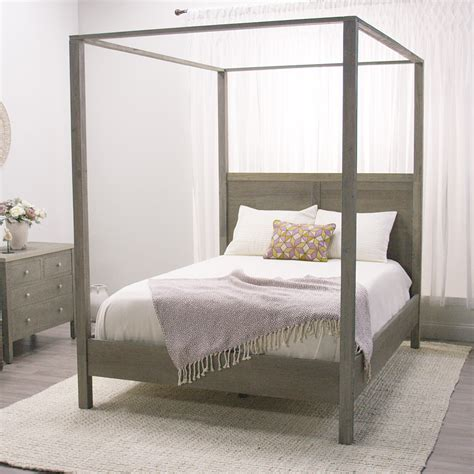 canap beddinge gray marlon canopy bed rustic elegance canopy and