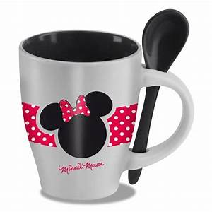 Minnie Mouse Tasse : minnie mouse mug with spoon everything mickey mouse pinterest disney poterie et cuill res ~ Whattoseeinmadrid.com Haus und Dekorationen
