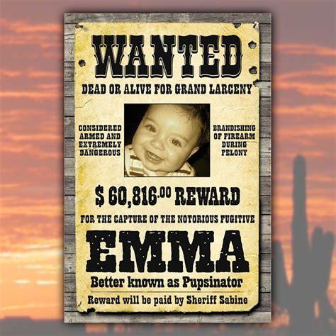 personalisierbares plakat wanted geschenkideeat