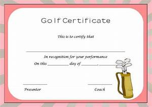 golf handicap certificate template 28 images golf With free golf handicap certificate template