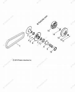 Polaris Side By Side 2015 Oem Parts Diagram For Drive Train Clutch  Secondary