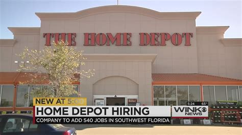 Home Depot Is Bringing Over 500 Jobs To Swfl
