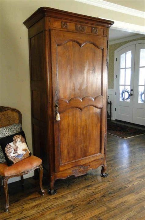 Narrow Armoire Wardrobe by Antique Country Armoire Wardrobe Closet Provincial