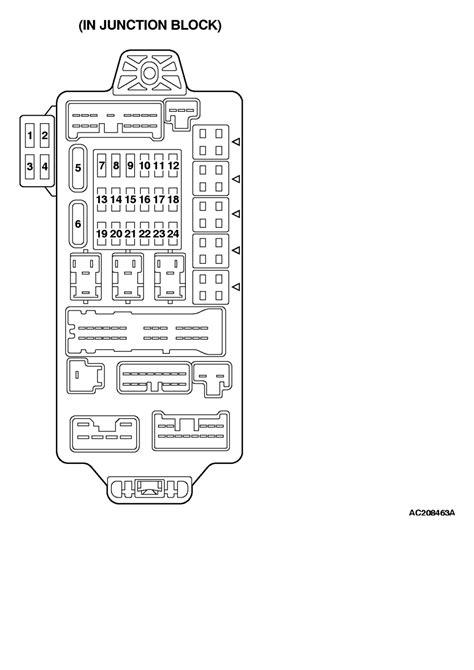 Fuse Diagram 2004 Endeavor by Endeavor Fuse Diagram