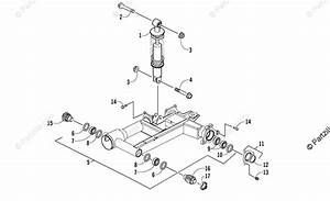 Arctic Cat Atv 2008 Oem Parts Diagram For Rear Suspension Assembly