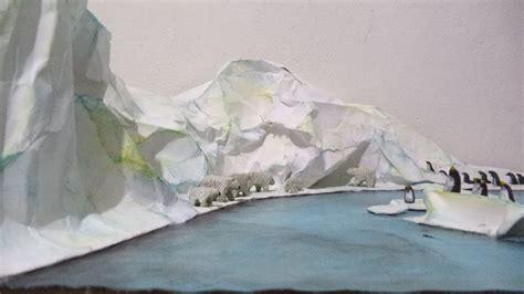 como hacer una maqueta de polo norte ecosistema polar maqueta youtube