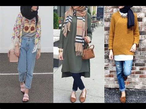 casual hijab jeans outfits  girls lookbook outfit