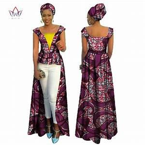 brw african print bazin riche dress for women vetements With vêtement africain pour femme