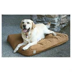 carhartt brown cotton duck padded dog bed kennels beds With carhartt dog bed