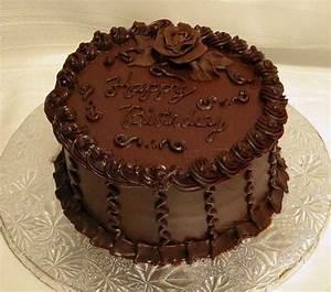 Chocolate Ganache Birthday Cake - CakeCentral.com