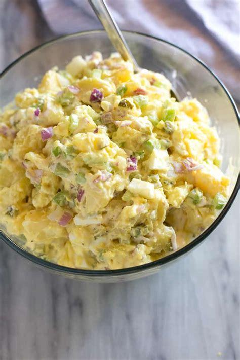 traditional potato salad tastes   scratch