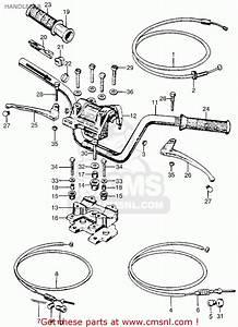 Honda Ct90 Trail 1966 K0 Usa Handlebar