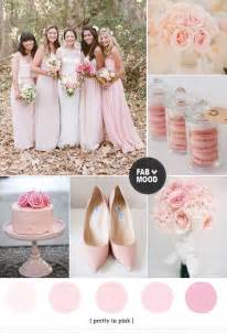 wedding color palettes pink wedding color schemes light pink wedding color ideas