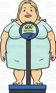 Large Woman Standing Forward On A Scale That Reads 600 ...