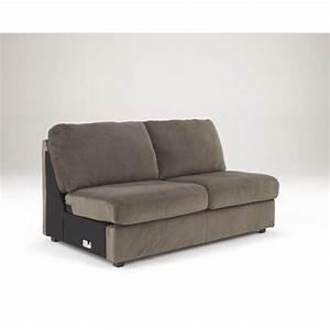 Ashley Jessa Place 4 Piece Microfiber Left Chaise ...