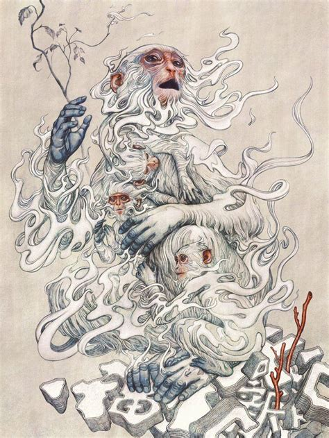 Queens Of The Stone Age Wallpaper James Jean Quot Year Of The Monkey Quot 1st Edition 2016 Kickassposters Com