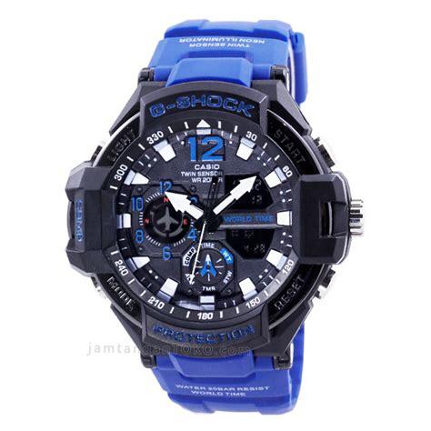 Gshock Gwa 1100 Hitam List Biru jam tangan g shock kw tulisanviral info