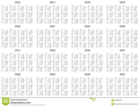 calendar years stock photo image