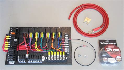 Power Fuse Box City by 7 Relay Panel Kit Custom Electronics Electric