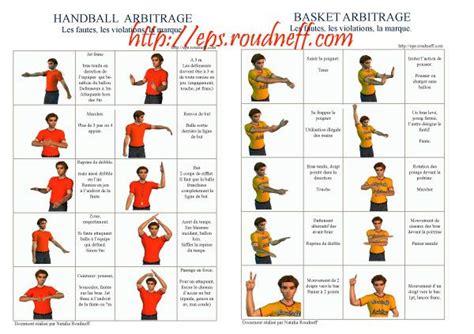 gestes arbitrage sports  eps pinterest motricite