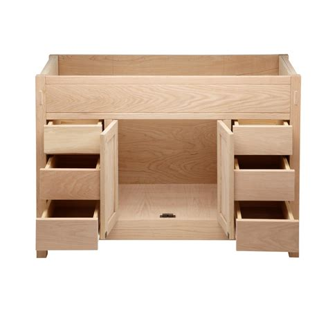 48 Quot Unfinished Mission Hardwood Vanity For Undermount Sink