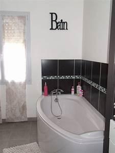 best salle de bain rouge noir et blanc contemporary With salle de bain moderne noir et blanc
