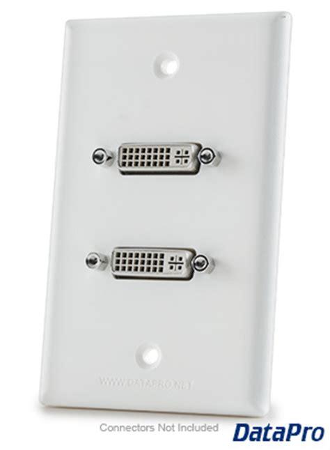 dual dvi wall plate datapro