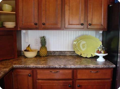 Beadboard Kitchen Backsplash Pictures : A Beadboard Backsplash From Thrifty Decor Chick
