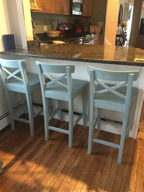 colored kitchen chairs ikea counter stools painted with sloan chalk paint 2327