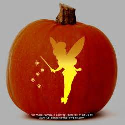 Peter Pan Pumpkin Designs by Tinkerbell Fairy Stencil Free Pumpkin Carving Stencil