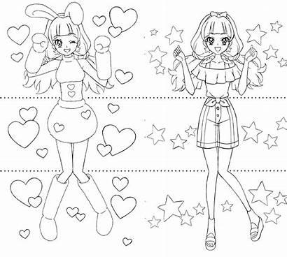 Precure Princess Coloring Colorear Kirara Dibujos Cool