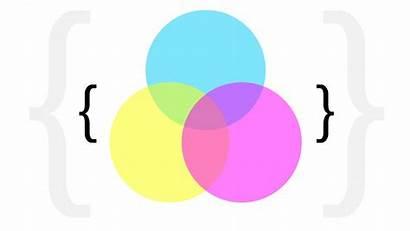 Diagram Venn Cmyk Abstract Minimalistic Colors