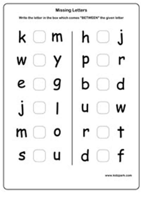 ukg english capital missing letters worksheet kindergarten
