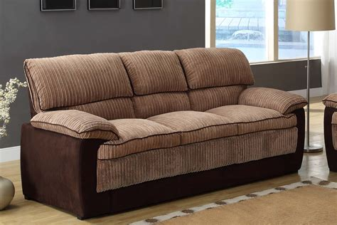 homelegance mccollum sofa set brown corduroy and microfiber u9746 3 homelement