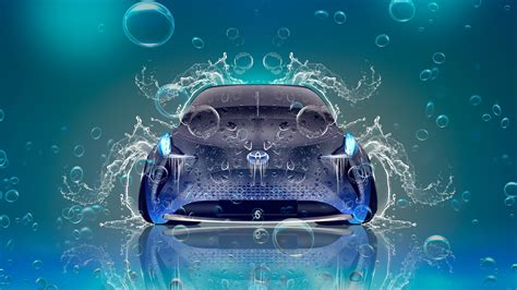 toyota ft bh hybrid front  water car  el tony