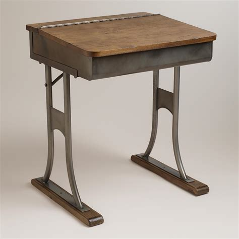 world market desk gunmetal schoolhouse desk world market